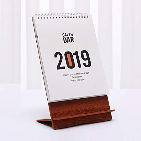 HUACANG Calendario De Escritorio 2019, Calendario De Cubierta De ...