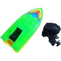 FnieYxiu Plastic Wind-up Speed Boat Motorboat Kids Children Summer Water Sports Bath Toy