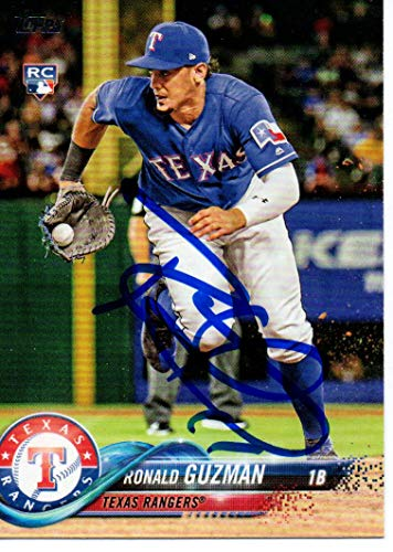 Ronald Guzman Texas Rangers 2018 Topps Update Rookie Autographed Signed Card
