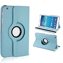 Cover Samsung Galaxy Tab 3 8.0 Tablet Case,Galaxy Tab3 8 inch Case,360 Rotating Leather Protective Case for Samsung Galaxy Tab 3 8.0 SM-T311 Case,Light blue
