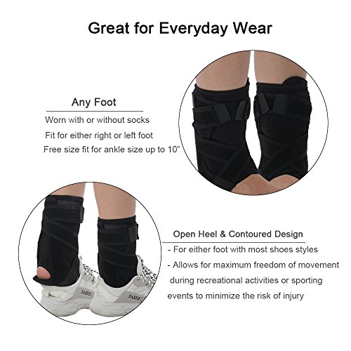 Rigid Ankle Brace Stabilizer,Medical Grade&FDA Approved Ankle Support w/Rigid Stay,Nonslip Strap Compression Ankle Wrap Protection for Ankle Pain Relief,Injury Prevent - R/L Foot,Men or Women by igoeshopping (Image #4)