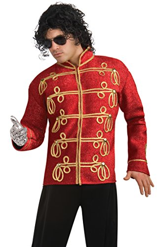 Michael Jackson Deluxe Military Jacket, Red, Large Costume -