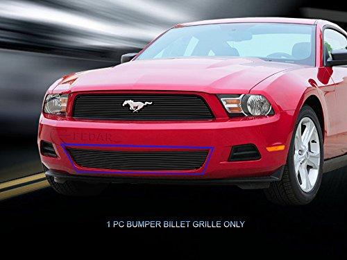 Fedar Lower Bumper Overlay Billet Grille Insert for 2010-2012 Ford Mustang V6 (Overlay Bumper Lower)