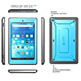 Fire HD 10 2015 Case, SUPCASE [Heavy Duty] Case 2015 Release Only Amazon Fire HD 10 Tablet 5th Generation [UB Pro Series] Rugged Hybrid Protective Case Built-in Screen Protector (Blue)