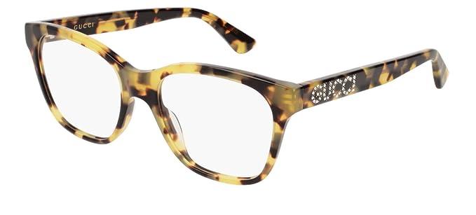 06e3101539 Gucci - Montura de gafas - para mujer Multicolor Tartarugato 52: Amazon.es:  Ropa y accesorios