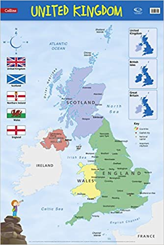 Buy United Kingdom Wall Map Collins Primary Atlases Book Online