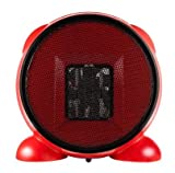 e-joy KingMys Portable Fan/Space/Desktop Heater, Red, 500W