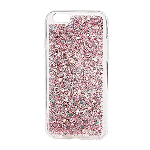 For iPhone 7 Plus Case, HP95(TM) Fashion Ultra-Thin Bling TPU Glitter Case Back Cover For Iphone7 plus 5.5Inch (Pink) (Cs Plus Iphone Spigen 6)