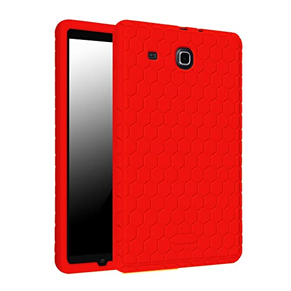 more photos cc0f9 1589e Fintie Silicone Case for Samsung Galaxy Tab E 9.6 - [Honey Comb Series]  Light Weight [Anti Slip] Shock Proof Cover [Kids Friendly] for Tab E  Wi-Fi/Tab ...