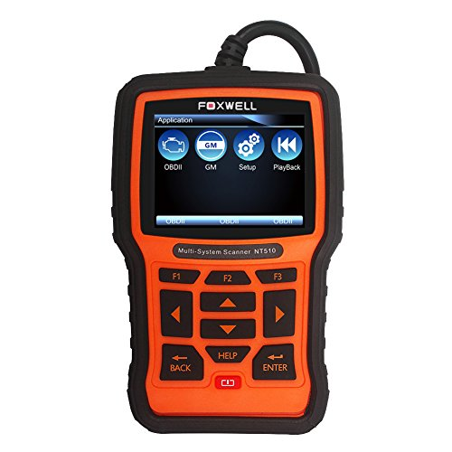 Gm Cables Www Com (FOXWELL NT510 Pro Obd2 Scan Tool Auto Diagnostic Code Scanner with Oil Reset/EPB/BRT/DPF/SRS/ABS/SAS for Buick, Chevrolet, Cadillac, GMC)