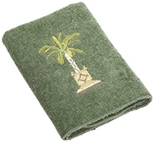 Avanti Linens Banana Palm Wash Cloth, Peridot