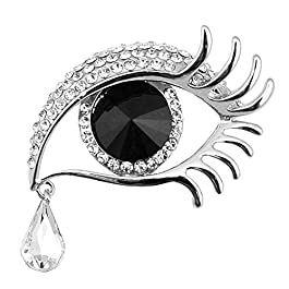 Dylandy Brooches Women Brooch Pins Vintage Crystal Brooch Buckle Angel's Tears Brooches For We