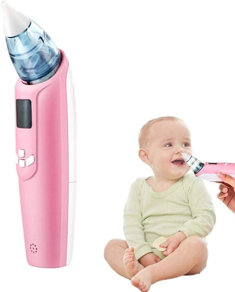 Volwco Aspirador Nasal para bebé, Aspirador Nasal eléctrico con 3 Niveles de succión para Quitar rápidamente la música Nasal del bebé y 3 Luces Intermitentes de Colores con Funda de Transporte: Amazon.es: