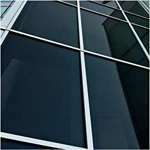 BDF NA05 Window Film Privacy and Sun Control N05, Black (Very Dark) - 12in X 14ft