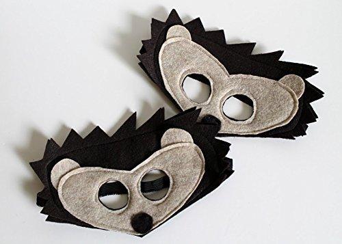 Felt Hedgehog Mask in Kids and Adult Sizes