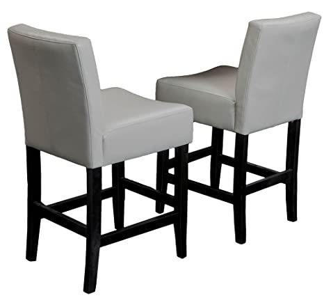 Fantastic Best Selling Lopez Leather Counter Stool Ivory Set Of 2 Bralicious Painted Fabric Chair Ideas Braliciousco