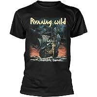 Running Wild 'Under Jolly Roger Album' (Negro) Camiseta