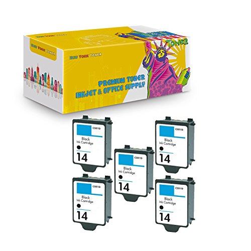 14 Black C5011an Ink - New York TonerTM New Compatible 5 Pack C5011AN HP 14 Black High Yield Inkjet For HP : HP CP1160 | Officejet : D135 | D155 | 7100's | HP Digital Copier 610 . -- Black