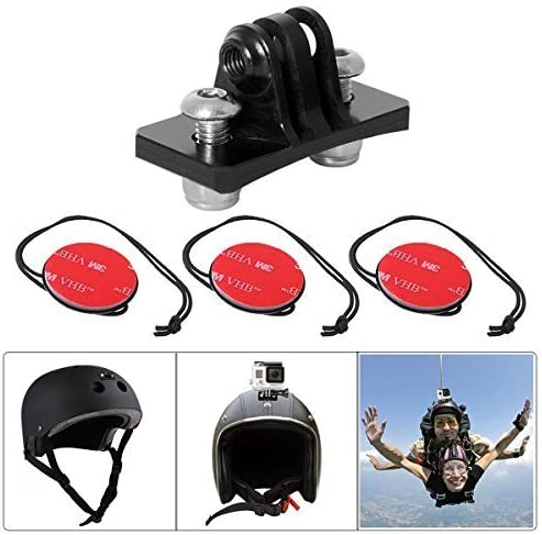 Black+Red jinxer Adjustable Action Camera Accessories,Motorcycle Helmet Install Fixed Bracket Stand Compatible with Gopro Sports Camera