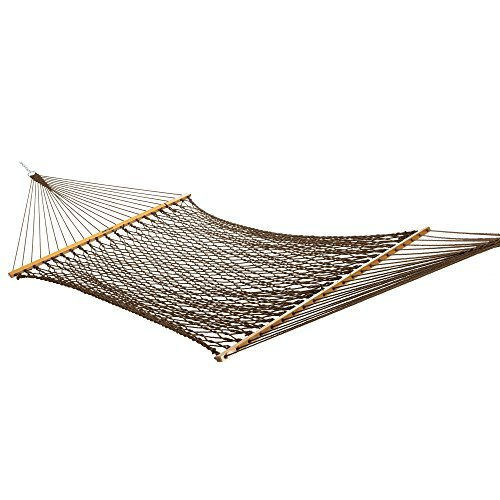 Pawleys Island Original Collection - Pawley's Island Original Collection Large DuraCord Rope Hammock, Antique Brown