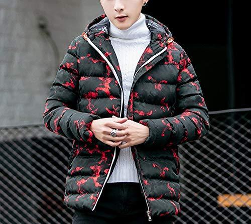 Red Medium Men's Cotton Jacket, Short, Thick