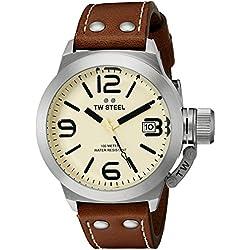 TW Steel Men's CS11 Analog Display Quartz Brown Watch