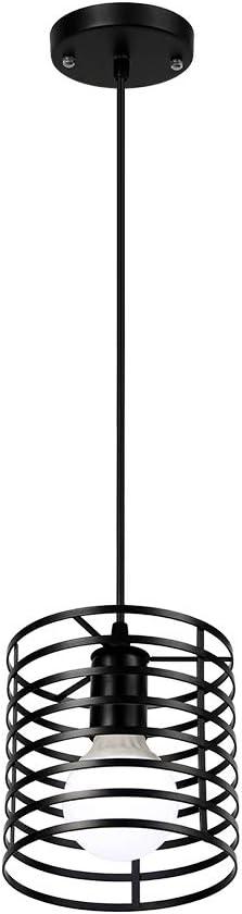 Newrays Retro Loft Industrial Hierro Negro Colgante L/ámparas Colgantes E27 Para Cocina Sala De Estar Dormitorio Restaurante