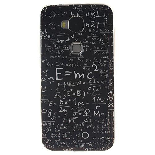 Hozor Huawei Maimang 4 / G7 Plus / G8 Cas, Motif Peint TPU Souple En Silicone Couverture Arrière Slim Fit Antichoc Scratch Résistant Cas De Téléphone De Protection Bord Transparent Equation
