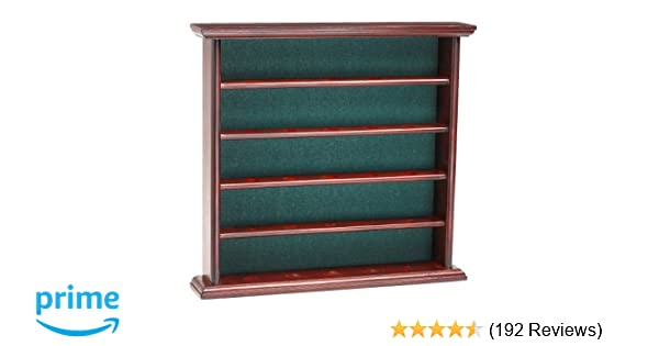 Clubhouse Collection Golf, Gifts and Gallery Mahogany Golf Ball Display Cabinet - 25 Balls