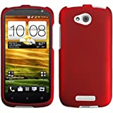 Asmyna HTCONEVXHPCSO202NP Titanium Premium Durable Rubberized Protective Case for HTC One VX - 1 Pack - Retail Packaging - Red