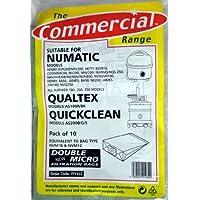 Ppr Bag 10pk Replacement Paper Bags QuickClean, Henry, Qualtex, Numatic
