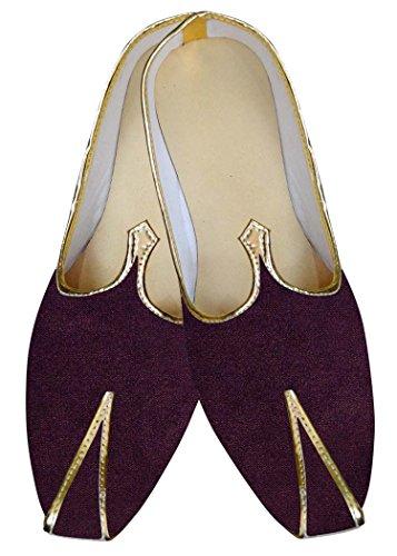 INMONARCH el Novio Vino Hombres Zapatos de Boda MJ015275