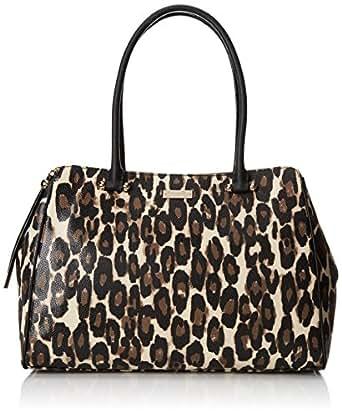kate spade new york Charles Street Leopard Kensington Shoulder Bag,Deco Beige,One Size