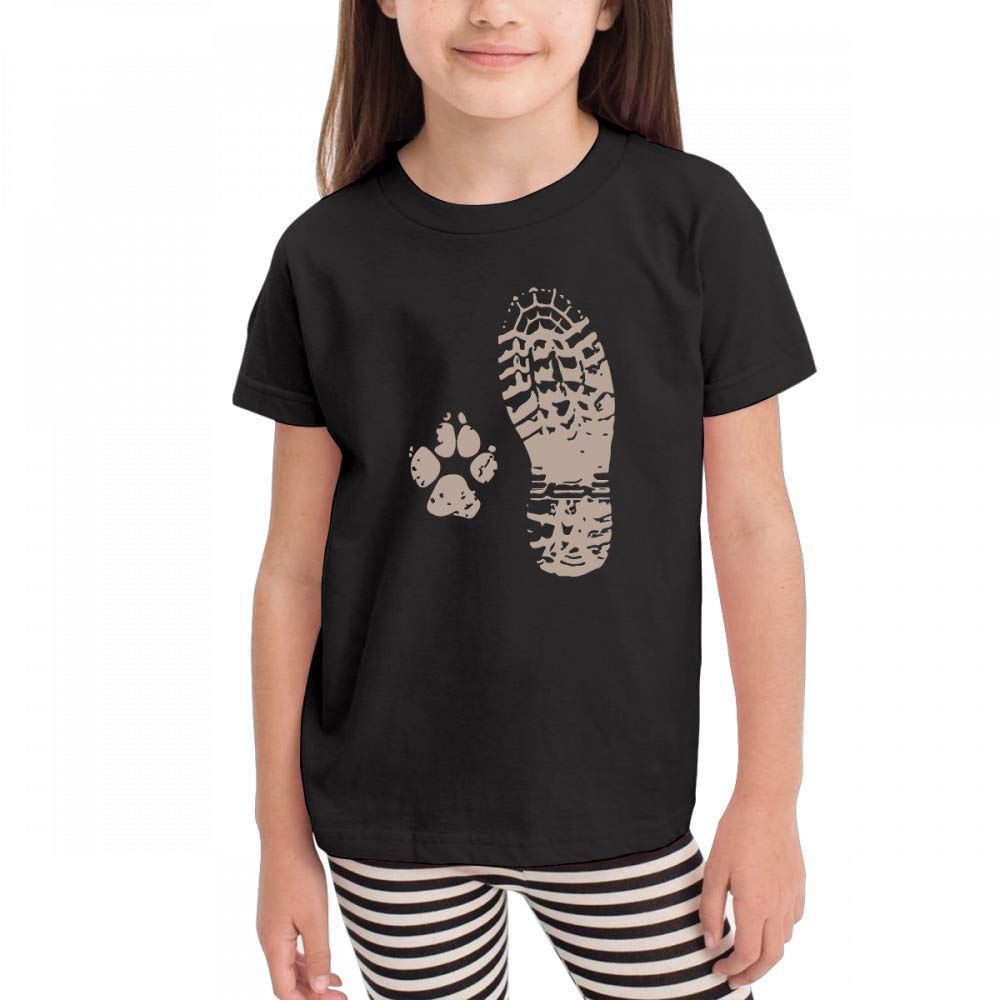 Antonia Bellamy Take A Hike Boot N Paw Vintage Kids Short Sleeve Crew Neck Graphic T-Shirts Tops