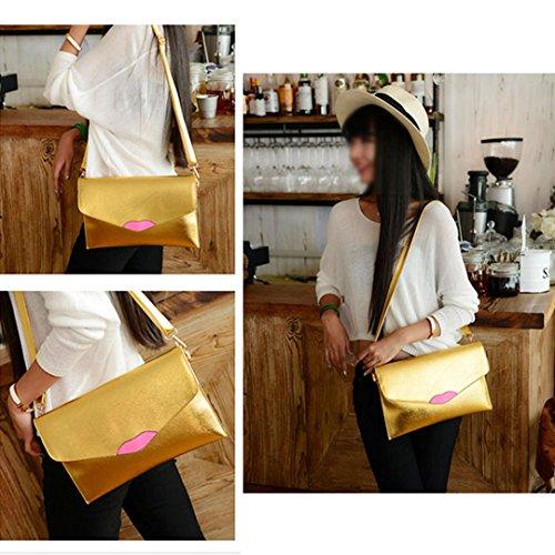 Bag Clutch Pu Oversized Handbag Gold Womens Meliya Red Wristlet Leather Purse Evening X7RwntZ