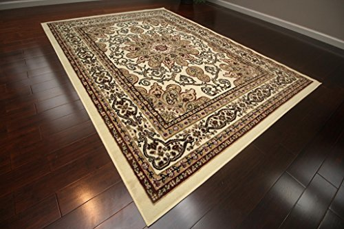 Generations New Oriental Traditional Isfahan Persian Area Rug, 7'10 x 10'2, Ivory Cream