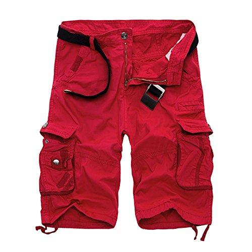 WDDGPZDK Strand Shorts/ Herren Military Cargo Shorts Army Camouflage Tactical Shorts Men Baumwolle Lose Arbeit Casual Kurze Hosen Übergrößen