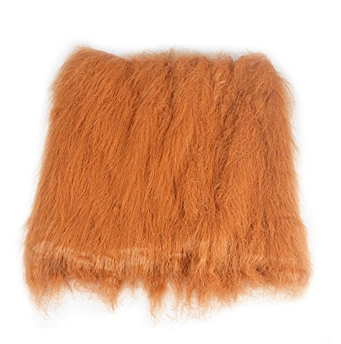 HTKJ Dog Lion Mane Costume Cute Adjustable Washable Pet Wig Hat for Dog Clothes Dress up Halloween Christmas Easter Festival Party Activity (Dog-Brown with ear) by HTKJ (Image #3)