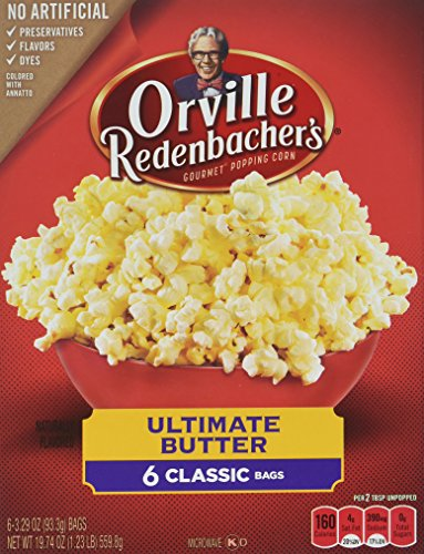 Orvillle Redenbacher's Ultimate Butter Microwave Popcorn, 6 Classic Bags (19.74 Ounces Total) (Popcorn Butter)