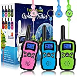 Wishouse 3 Walkie TalkWishouse 3 Walkie Talkie forie for Kids Rechargeable, UHF Two Way Radio for Adults, FRS Walky Talky Long Range Distance, Outdoor Fun Toys Children's Day Gift for Girls Boys Teens