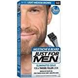 Just For Men Beard Lmbrn# Size 1ct Just For Men Mustache, Beard & Sideburn Clear Gel Light/Medium Brown