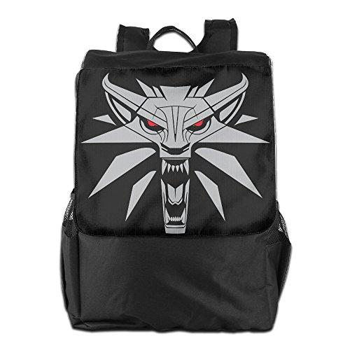 Price comparison product image DEMONSTR Outdoor Travel Backpack Bag - Wolf Head Unisex Backpack Daypack Rucksack Gym Bag