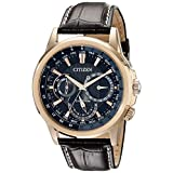 Citizen Men's BU2023-04E Calendrier Gold-Tone Watch with Leather Band