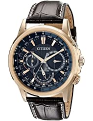 Citizen Mens Eco-Drive Stainless Steel Watch with Day/Date, BU2023-04E