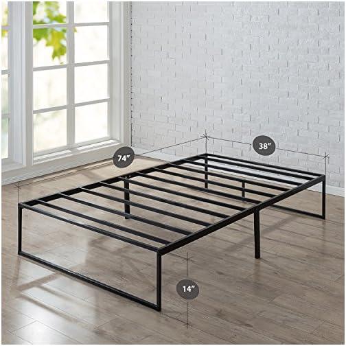 Zinus Lorelai 14 Inch Metal Platform Bed Frame / Steel Slat Support / No Box Spring Needed / Underbed Storage Space…