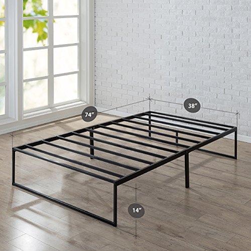 zinus 14 inch platforma bed frame mattress foundation no box spring needed steel slat. Black Bedroom Furniture Sets. Home Design Ideas