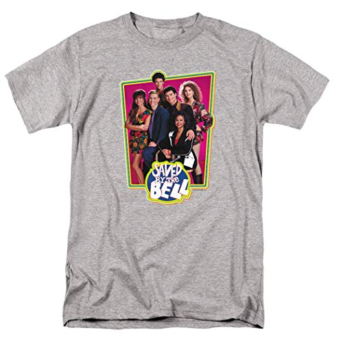 Saved by The Bell Cast T Shirt & Stickers (Large) Athletic Heather