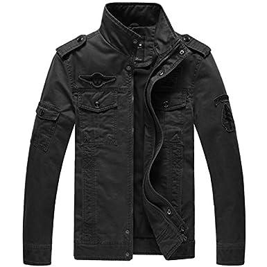 COOCHI Military Style Army Jackets Coats Chaqueta Hombre ...