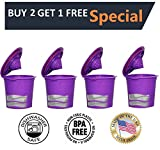 Appliances : Fill N Save 4 Pack Reusable K Cups for Keurig 2.0 & Backward Compatible With Original Keurig 1.0 Models. Works with Keurig Machines and Other Single Cup Brewers