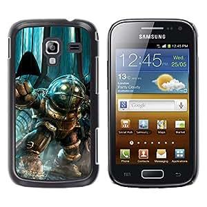 Gran papá - Metal de aluminio y de plástico duro Caja del teléfono - Negro - Samsung Galaxy Ace 2